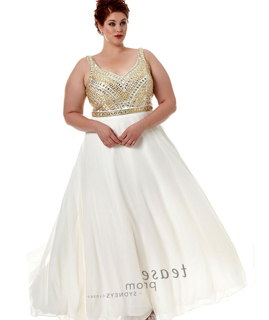 White plus size prom dress collection for Plus size dresses weddings and proms