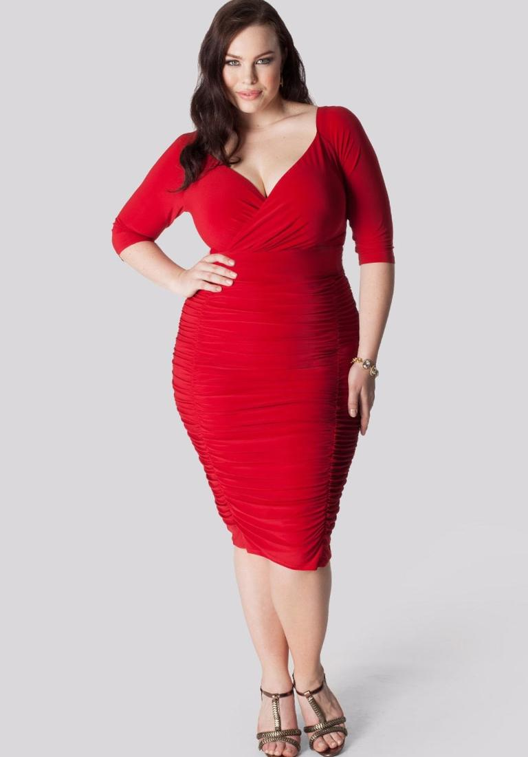 Plus size sexy red dress - PlusLook.eu Collection
