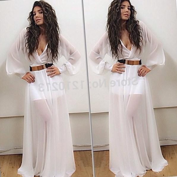 White Dress Long Formal Plus Size