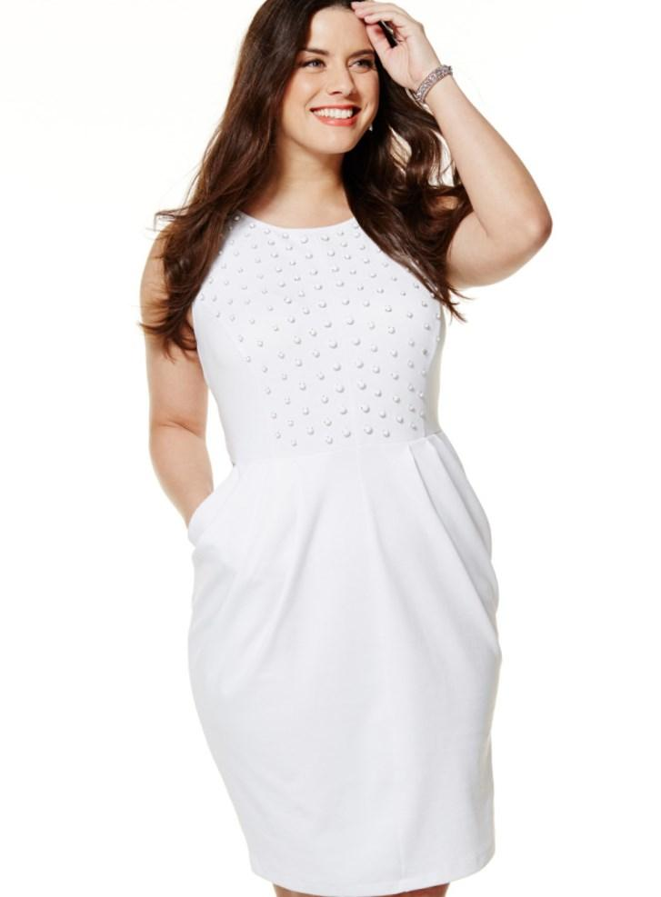 All white dress plus size - PlusLook.eu Collection