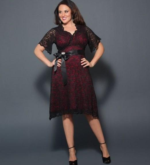 Black and red dresses plus size