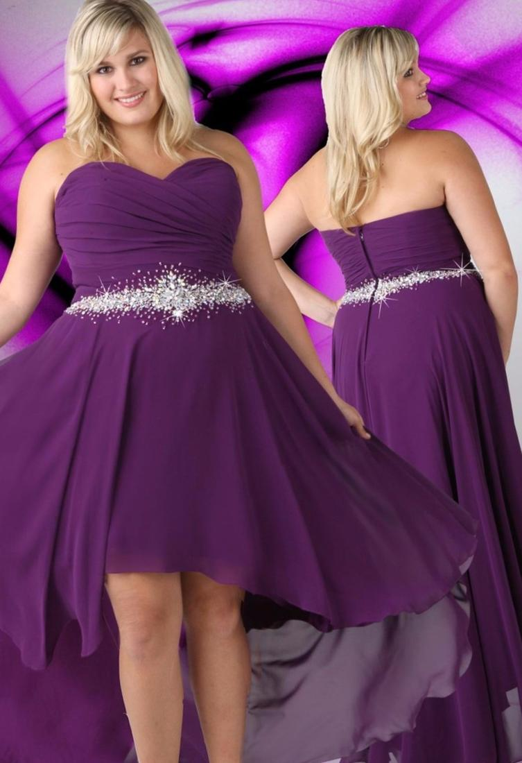 One shoulder formal dresses plus size