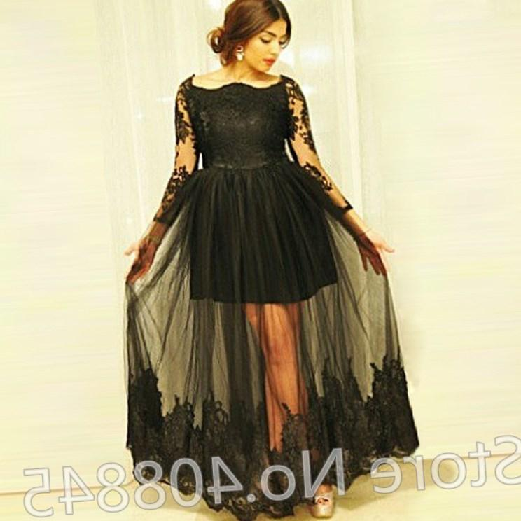 Plus Size Long Black Evening Dresses Pluslook Collection