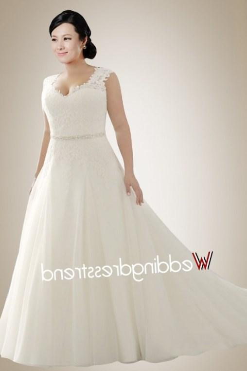 Charming A-Line/Princess Scoop Chapel Satin Organza Modest Wedding Dresses