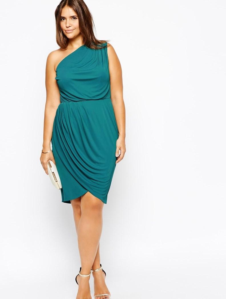 More images of plus size one shoulder dress