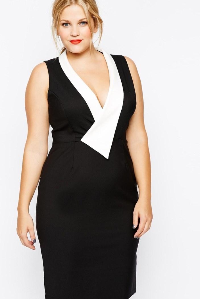 Midi plus size dress - PlusLook.eu Collection