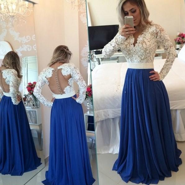 Long elegant dresses plus size