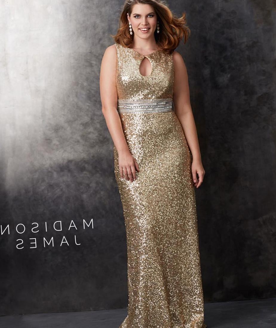 Gold plus size bridesmaid dresses collection for Golden dresses for a wedding