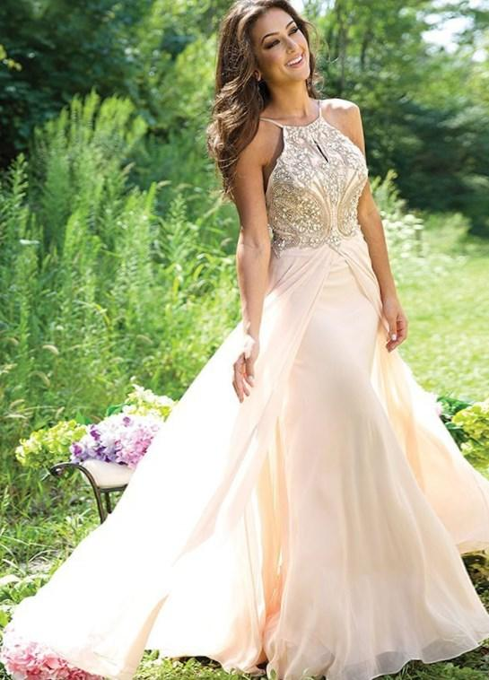 Short Prom Dress | Ivory and Gold Plus Size Prom Dress | Mac Duggal 76794F: