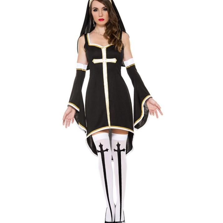 Plus Size Ladies Gothic Ghost Bride Fancy Dress Horror Cosplay Outfits Wench Women Fantasias Party Halloween