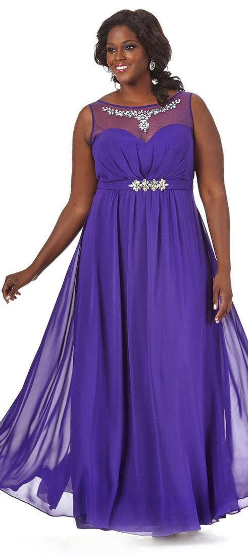 Plus Size Party Dresses Under 100 - Purple Graduation Dresses