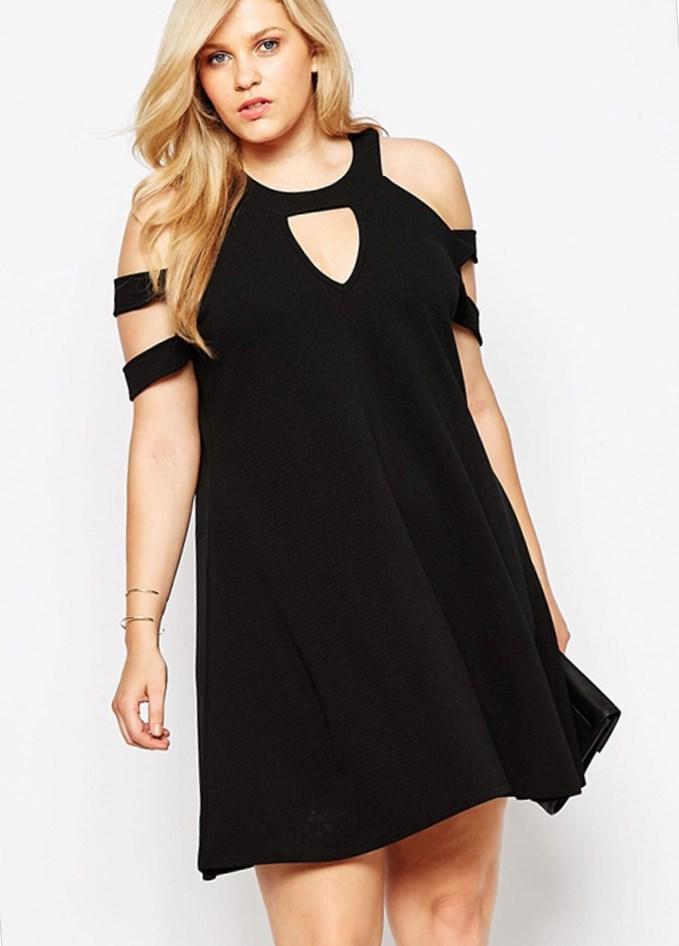 Black strapless dress plus size - PlusLook.eu Collection