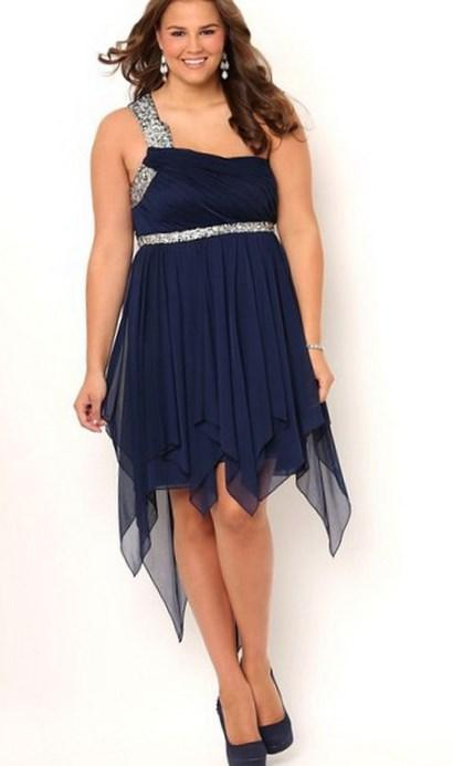 Buy Deb Junior Plus Size High Low Prom Dress with One Shoulder \u2026