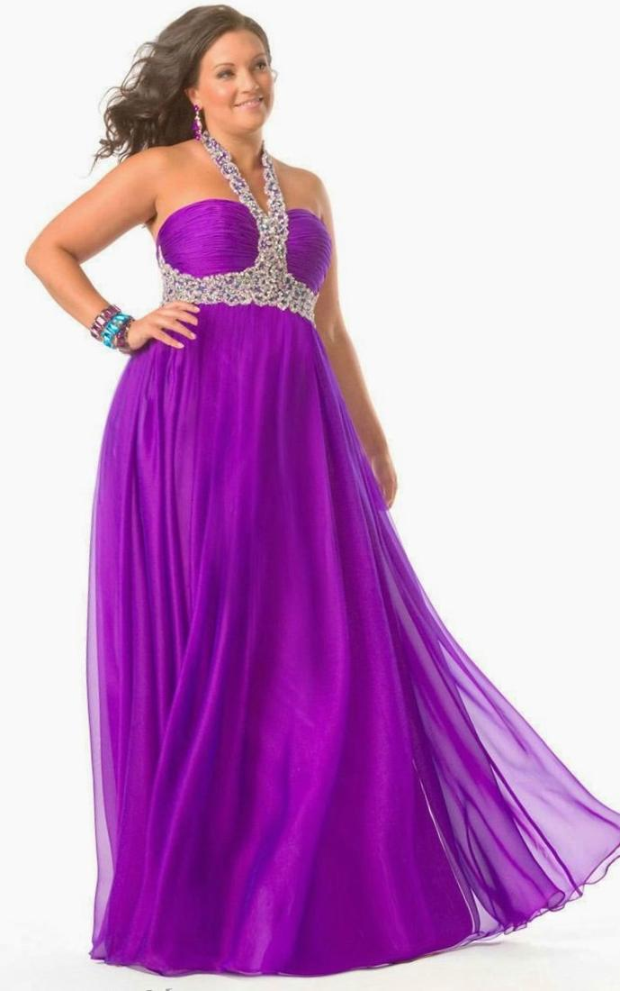 Plus size purple prom dress - PlusLook.eu Collection