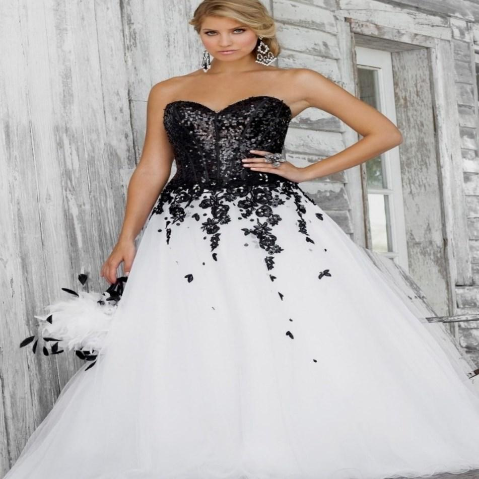 Black And White Wedding Dress Plus Size World Dresses Black White Wedding Dress Black White Wedding