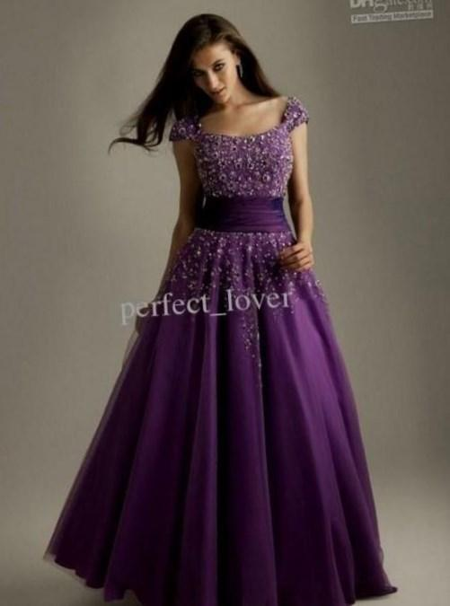 Purple Plus Size Prom Dresses With Low Back Beaded A Line Chiffon Waists Women Long Evening