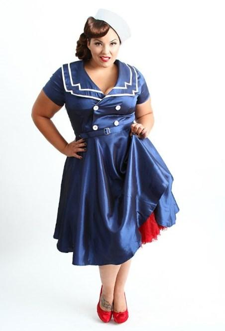 Domino Dollhouse - Plus Size Clothing: Hello Sailor Dress - Plus size up to a