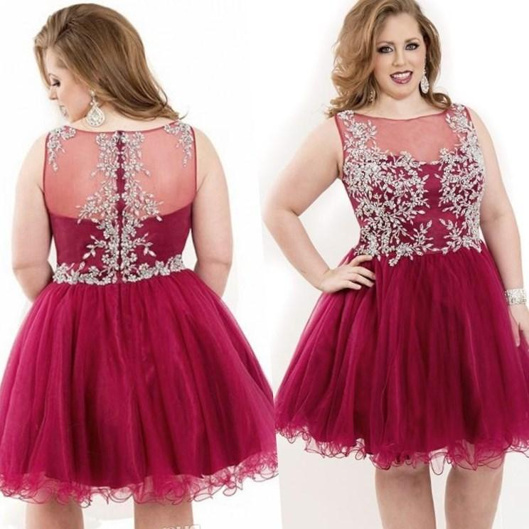 plus size short prom dress 2016