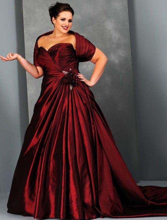 Red plus size wedding dresses collection for Bling plus size wedding dresses