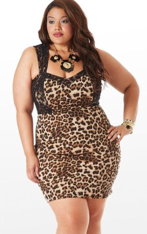 Leopard plus size dress - PlusLook.eu Collection