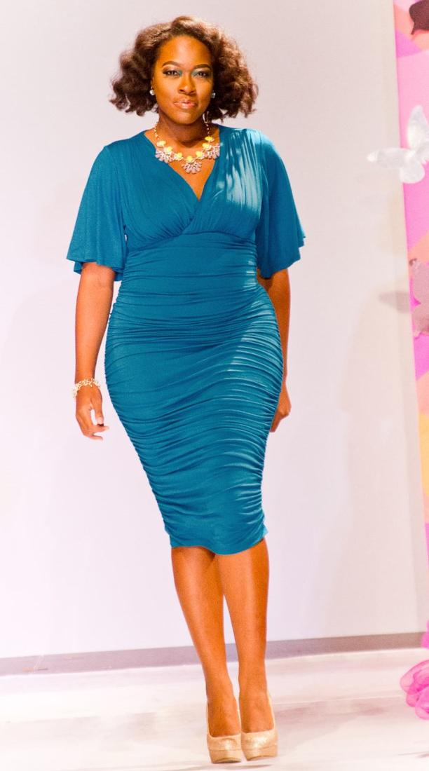 Plus Size Ruched Dress Pluslook Collection
