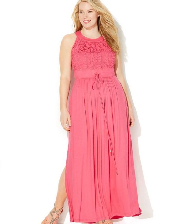 plus size halter maxi dress - pluslook.eu collection