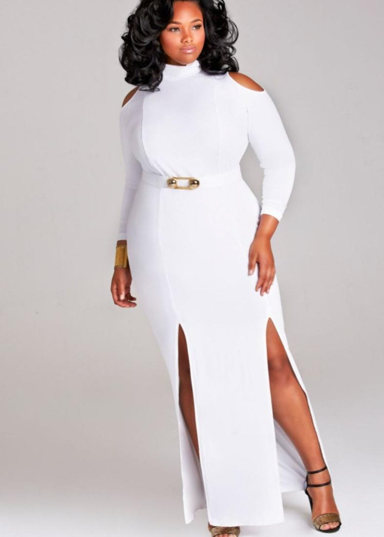 White plus size club dress - PlusLook.eu Collection
