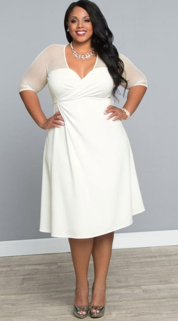 Plus Size Off White Dress Pluslook Collection