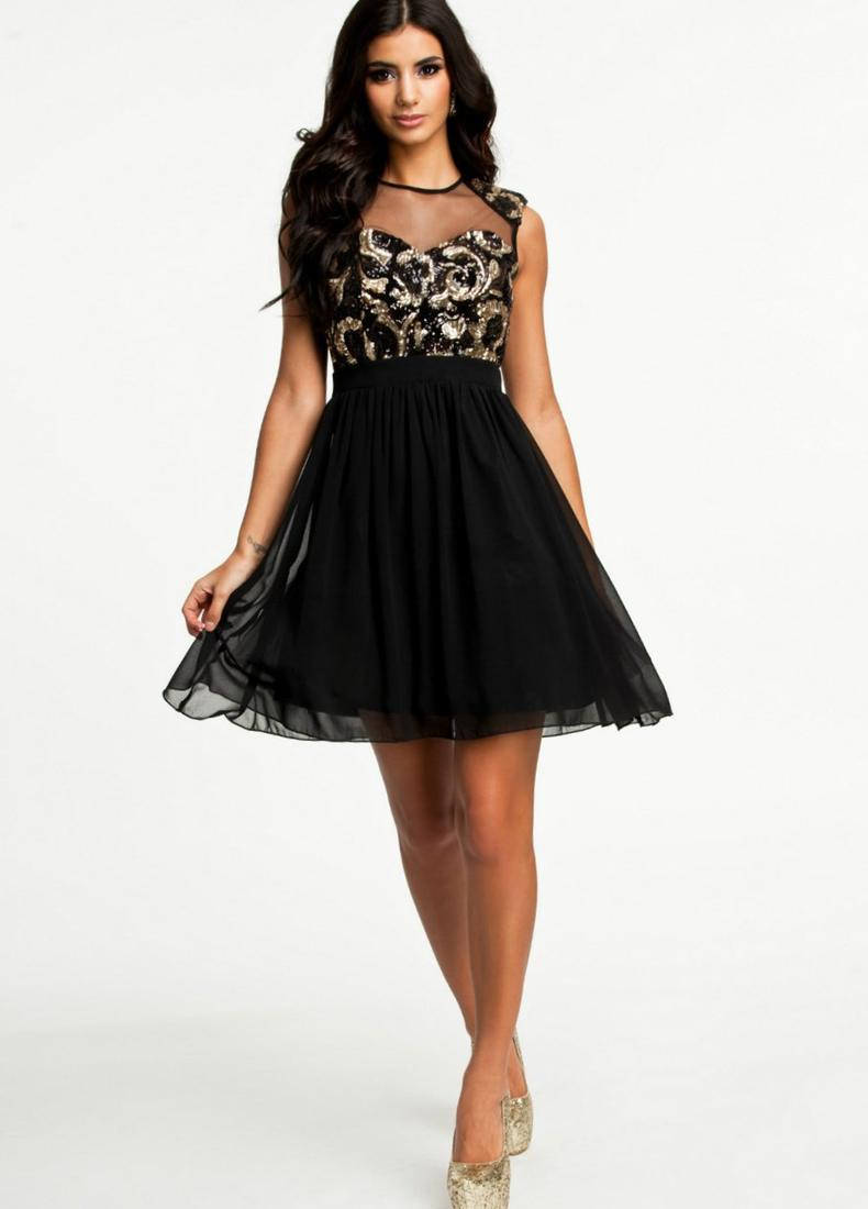 Plus Size Short Black Dresses Pluslook Eu Collection