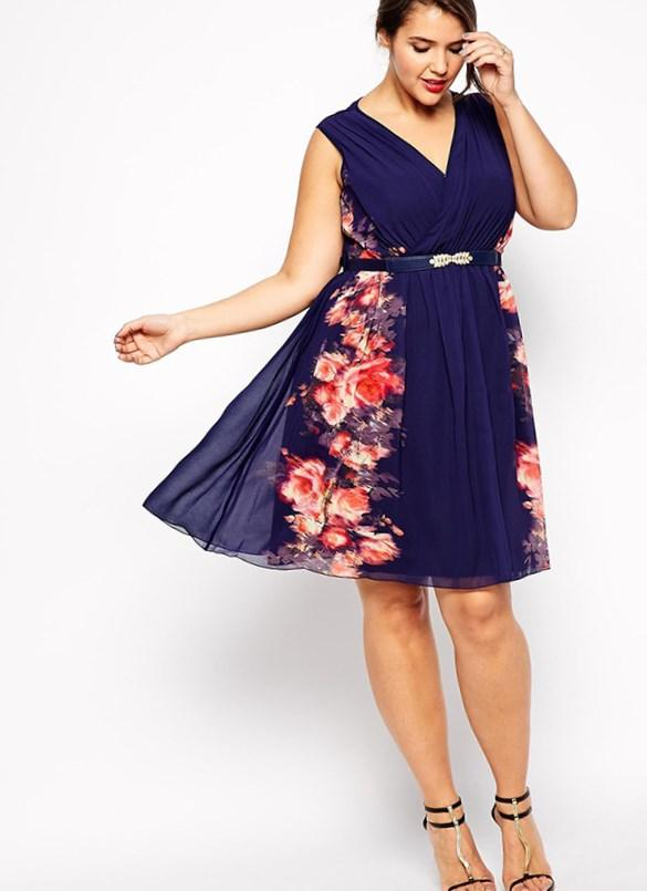 Long fitted plus size dress