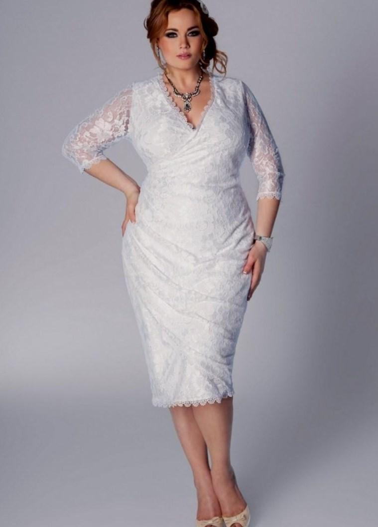 Plus Size White Party Dresses 55