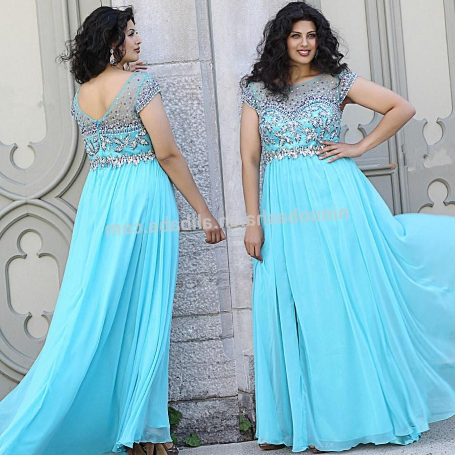 A-line Royal Blue Plus Size Prom Dresses With Beading Floor Length Prom Gowns ChiffonTulle Abendkleid Long Formal Party Dresses