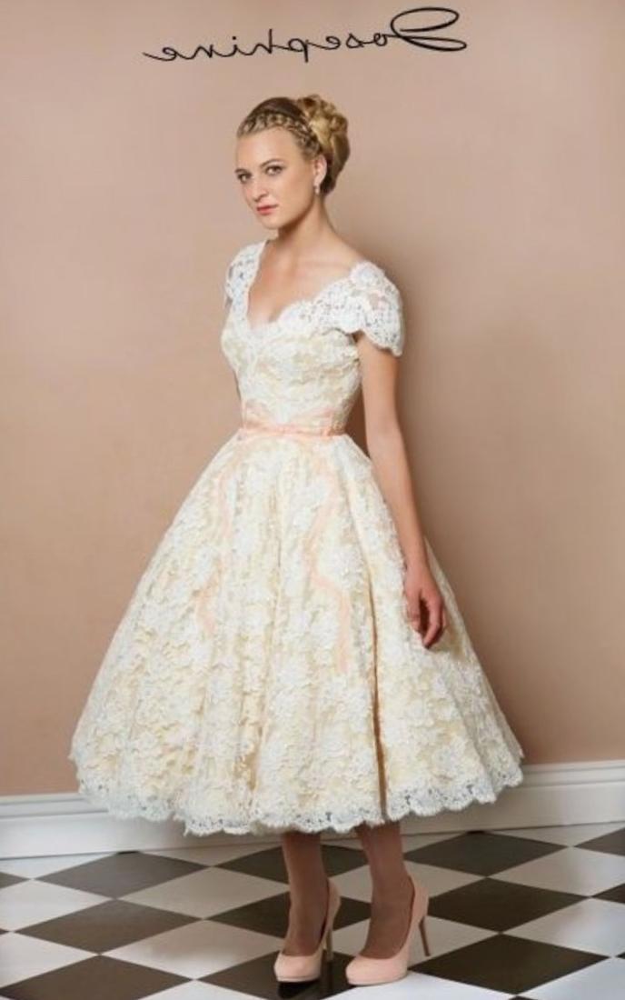 Plus Size Tea Length Wedding Dresses Under 100 High Cut Wedding