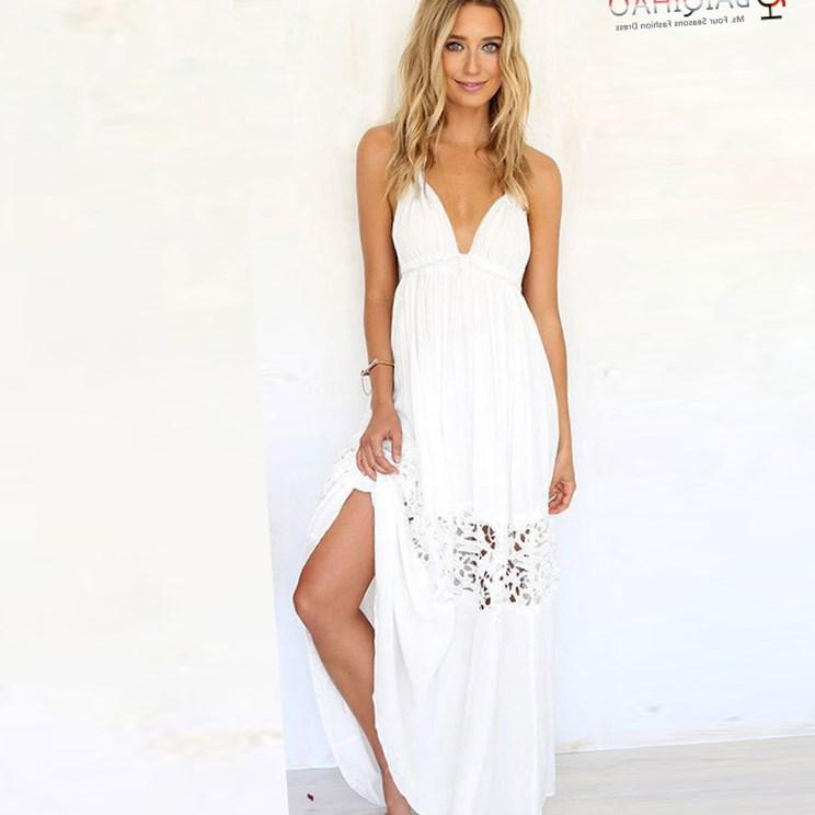 Dress unice lai Summer style Women dress 2018 plus size sexy white lace long maxi dress