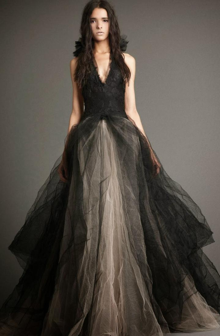 Black Chiffon Short Bridal Dress