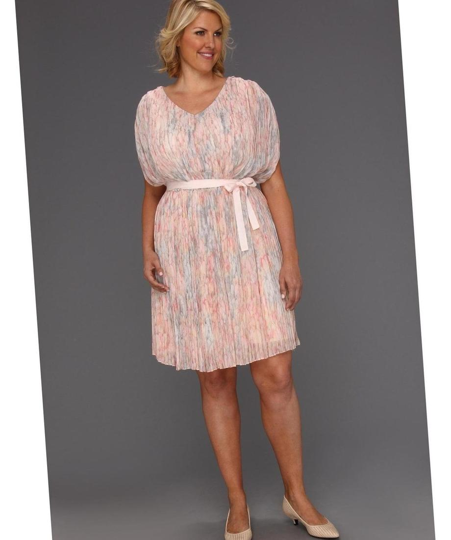Jessica simpson Plus Size Madelynn Floral-print Sweetheart Dress in Blue (Blue Blossom) | Lyst