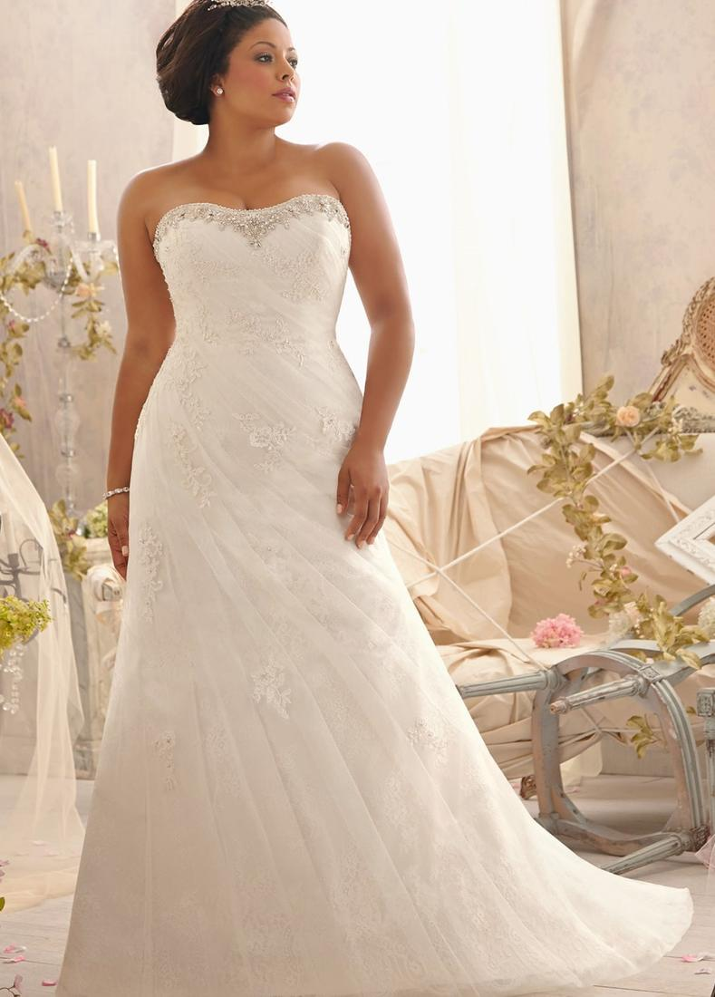 Plus size fitted wedding dresses pluslook collection if you are looking for a fitted wedding dress with lace and an illusion neckline ombrellifo Gallery