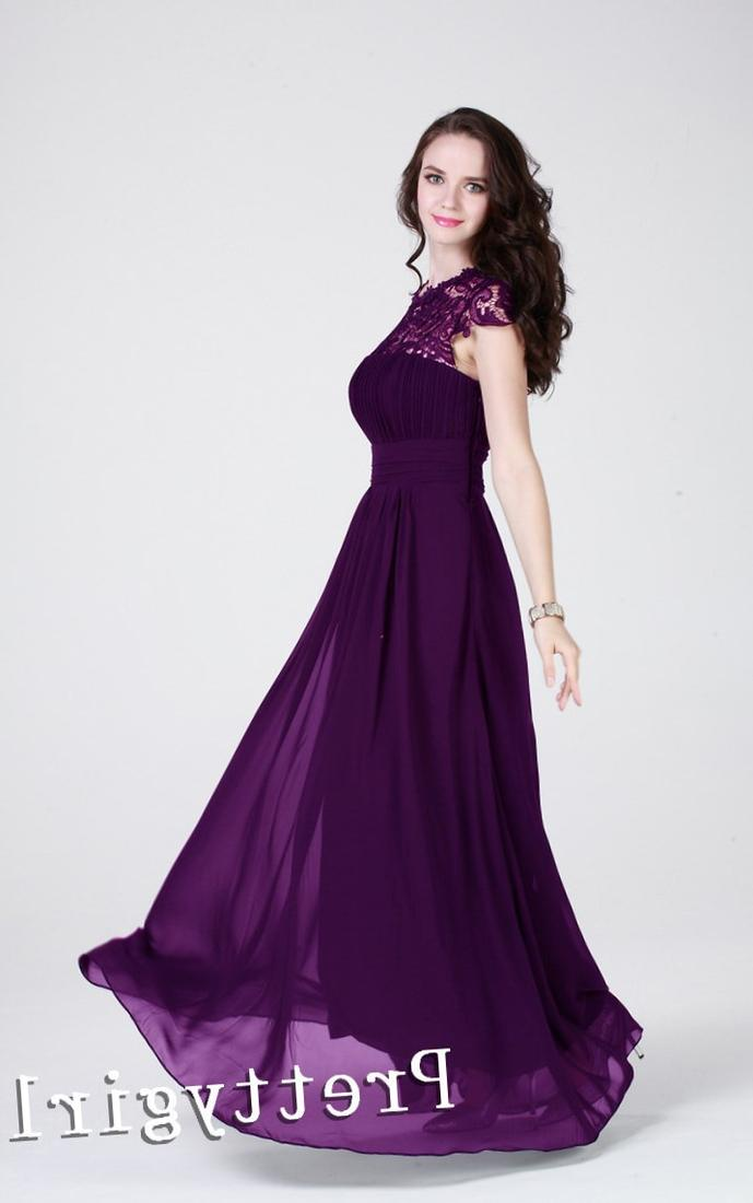 Plus Size Dresses Purple Collection