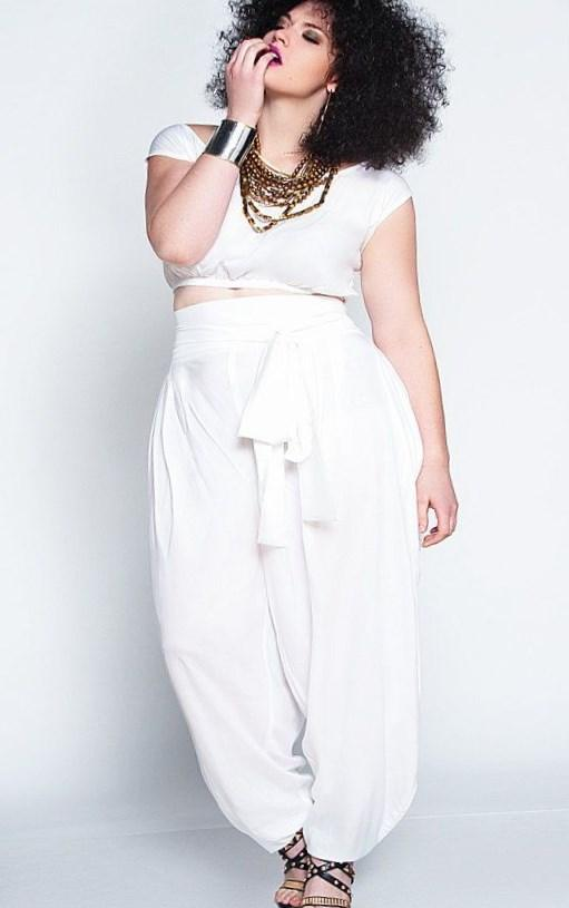 Plus size all white party dresses - PlusLook.eu Collection