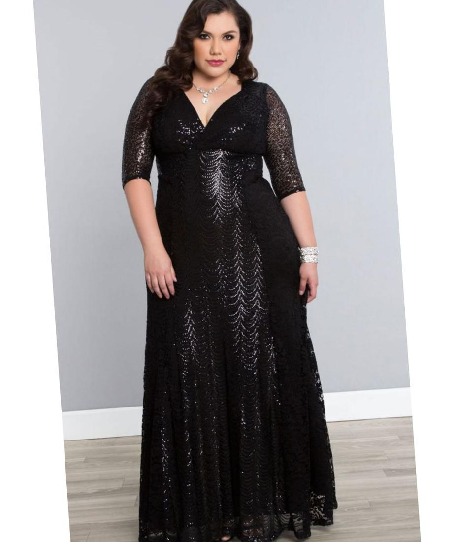 Retro Glam Lace Plus Size Party Dresses - Kiyonna. Adding a little bit of lace