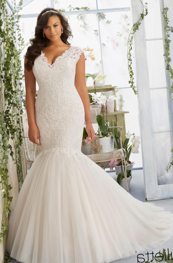 Plus size ball gown wedding dress collection for Wedding dresses for larger sizes