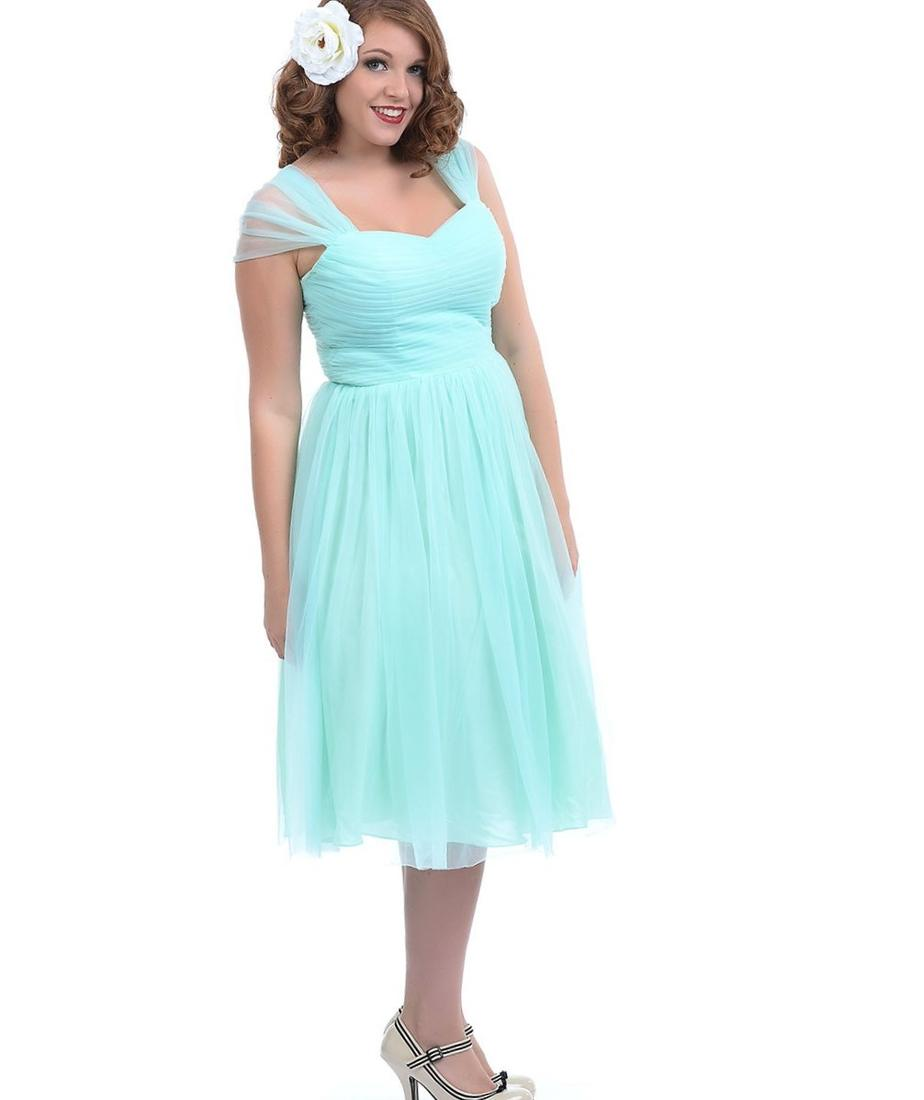Plus Size Elegant Dresses For Maid Of Honor - Plus Size Tops