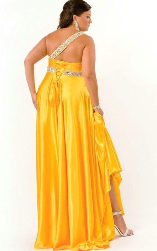 Yellow Plus Size Prom Dresses 20