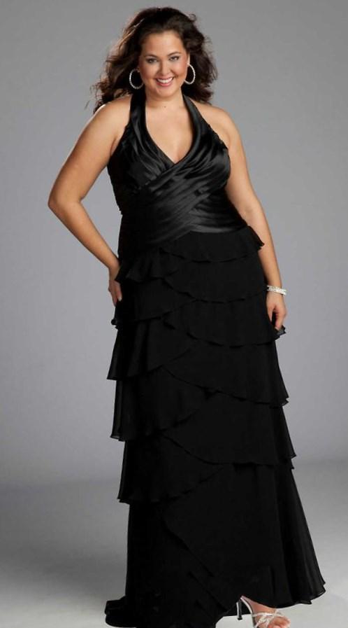 Plus size black bridesmaid dress - PlusLook.eu Collection