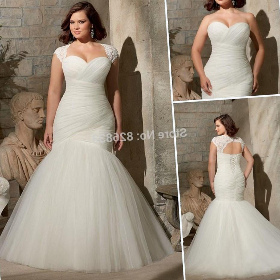 2017 Ivory Organza Pleated Sweetheart Bodice Mermaid Wedding Dress Plus Size Bridal With Removable Lace Jackets