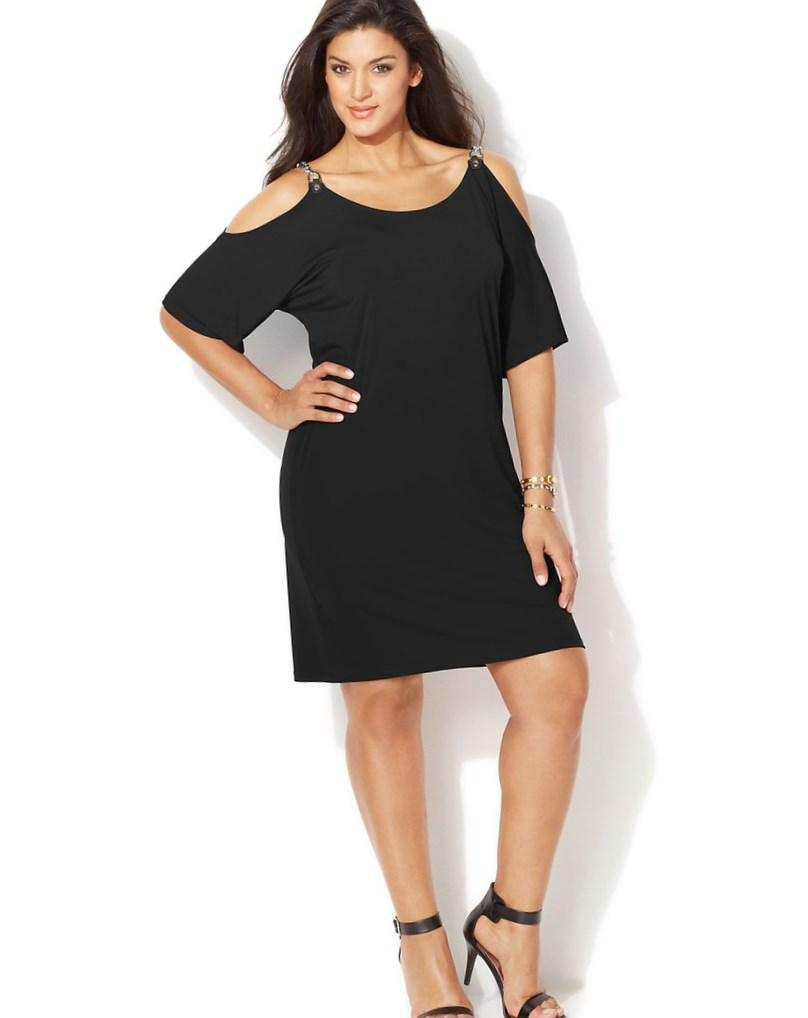 Plus size cold shoulder dresses