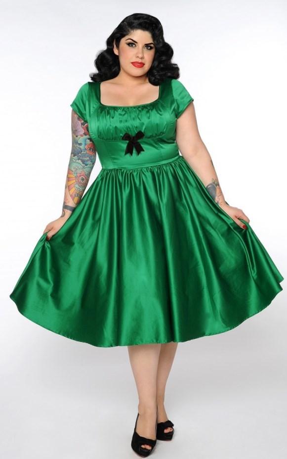 Plus size satin dress