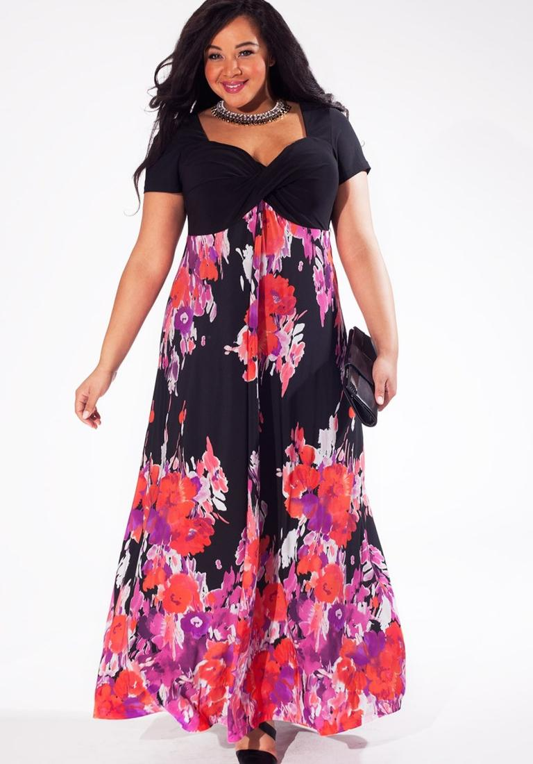 Midi maxi dress plus size