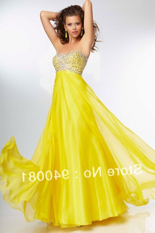 Wholesale Plus Size Special Occasion Dresses - Buy Beaded One Shoulder Pleated Bust Yellow Plus Size