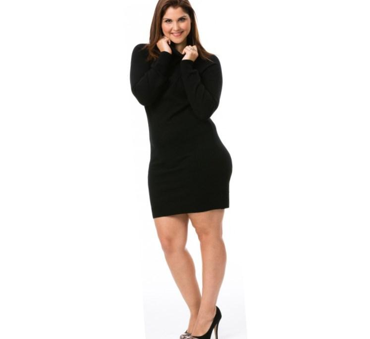 Plus Size Brown Sweater Dress Re Re